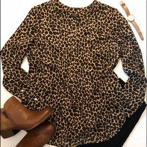 Talbots Cheetah Print Blouse